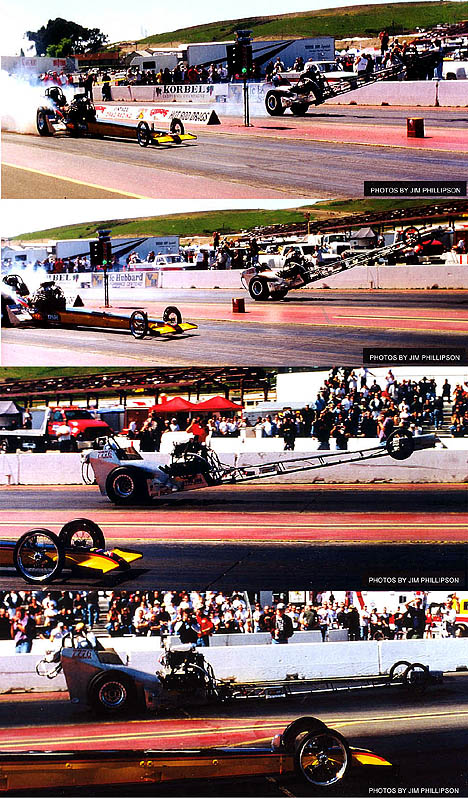 Lance Osborn's wild ride at the 2001 March Meet. Photo sequence by Jim Phillipson