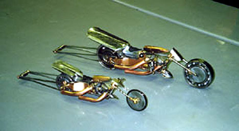More of Basic Bob's Drag Bikes. Photo by Basic Bob