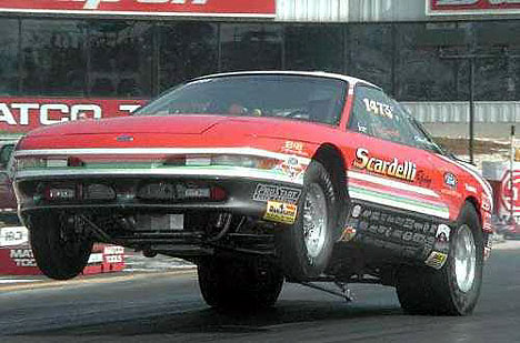 Ray Scardelli's 9-second 289-powered Ford Probe Super Stock. Photo by Dave Kommel, Auto Imagery