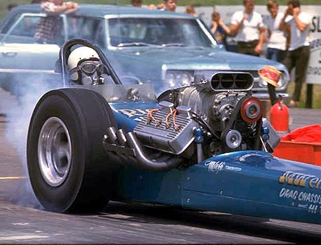 Rice & Williams AA/Fuel Dragster, July 1967. Photo by Pete Garramone