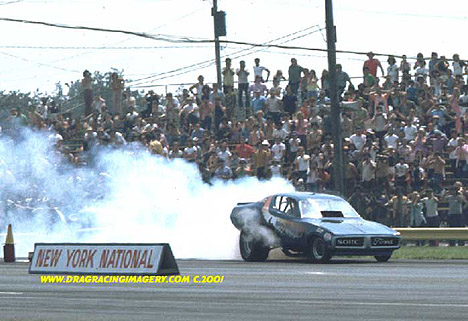 Who drove this SOHC Ford Powered Dodge Charger Funny Car? Photo by Ted Pappacena