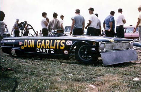 Don Garlits' Dart 2 was one of the precursors to today's funny cars. Photo by Pete Gemar