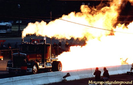 Bob Motz and his awesome Jet Truck. Photo by James Morgan
