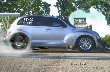 drag racing picture of the day pt cruiser in drag trim. Black Bedroom Furniture Sets. Home Design Ideas
