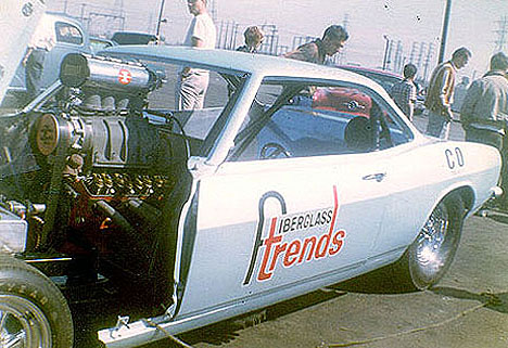 The Fiberglass Trends Corvair Funny Car. Photos thanks to Daryl Huffman