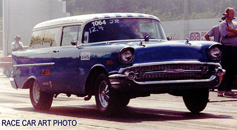 Larry's '57 Chevy Sedan Delivery is special, indeed. Photo by Joel Naprstek