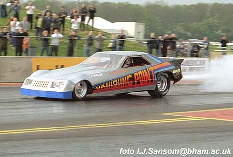 Sammy Miller returned to Santa Pod to thrill the fans in May 2002. Photo by Ivan Sansom