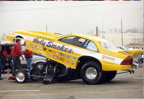 Jim Murphy's Holy Smokes Chevy Beretta AAFC between '89 to '92 at the Winternats. Photo by K