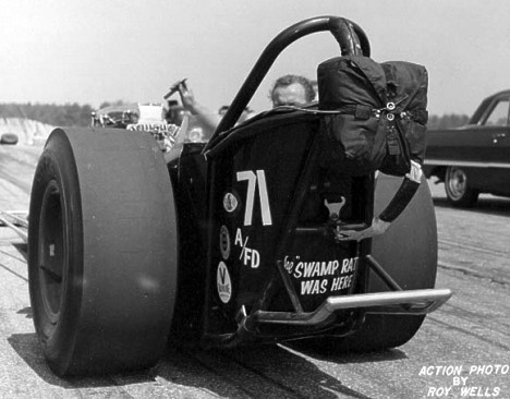 Ron Goodsell drove the Frantic Four in '65. Check the note under the chute. Roy Wells photo courtesy of Bruce Wheeler