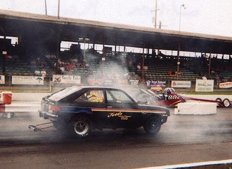 How about a winning 355 inch Chevy Chevette bracket car? Photo thanks to Jim