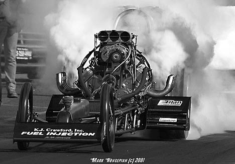 Rance McDaniels makes big fog at Goodguys Sears Point. Photo by Mark Hovsepian