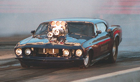 Road Rage -- blown Pro Mod '68 Mustang. Photo by Anni Valder