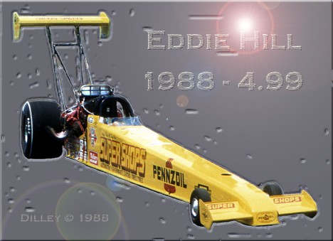 Eddie Hill, 1988 - The Four Father! Photo art by Ron Dilley
