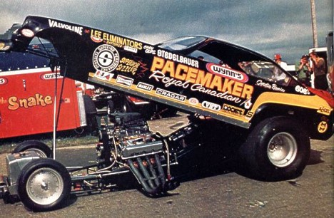 Gordie Bonin's Pacemaker Vega Funny Car. Photo thanks to Bill Ott