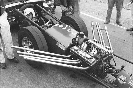 Bobby Tapia's early Chassis Research car showed the limits of roll cage technology. Photo by Steve Gibbs