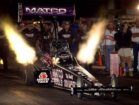 Don Garlits was the star of Indy 2001, achieving lifelong goals of running 300 mph in under five seconds. Photo by Auto Imagery