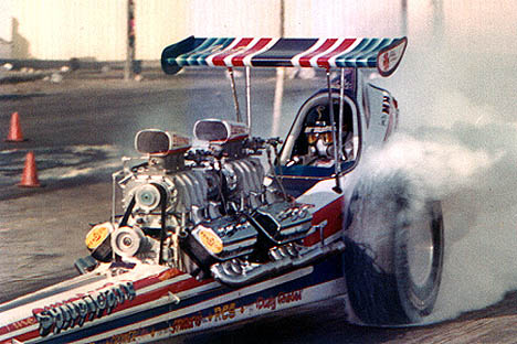 The Syndicate was one of the most outrageous fuelers ever. Photo from the Drag Racing Memories Collection