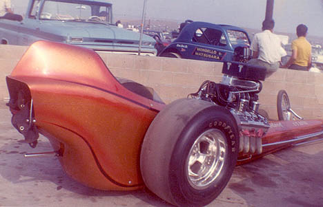 The beautiful Stellings and Tapia dragster was as much a work of art as it was a dragster. Photo thanks to Daryl Huffman