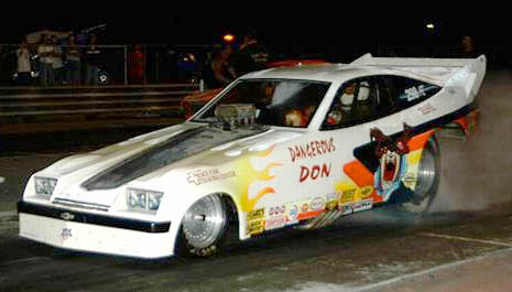 Dangerous Don Gatliff debuted his small block nitro funny car at Midway Classic Thunder. Photo by Brian Wood