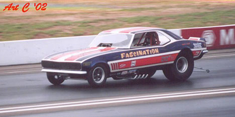 Donnie Reaves' Fascination Camaro at the 2002 Funny Car Reunion at Englishtown. Photo by Art Cimilluca