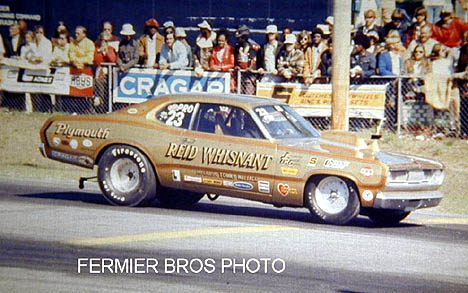 Reid Whisnant was one of the toughest Mopar Pro Stocks of the '70s with this gold Duster. Photo by Bob Fermier