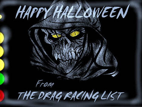 Happy Halloween from The Drag Racing List. Spooky drag art by Gonzo