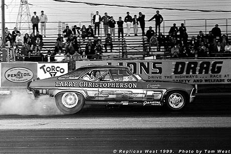 Larry Christopherson's Chevy Nova Fuel Funny Car. Photo by Tom West