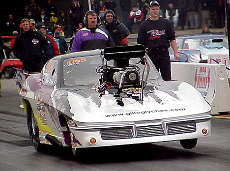Mike Janis is the 2001 IHRA Pro Mod World Champ and the quckest legal Pro Mod in history. Photo by Brian Wood