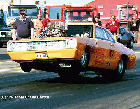 Sorry, Mopar fans, this killer Dodge Dart is powered by a Chevy! Photo by Hasse Karlsson
