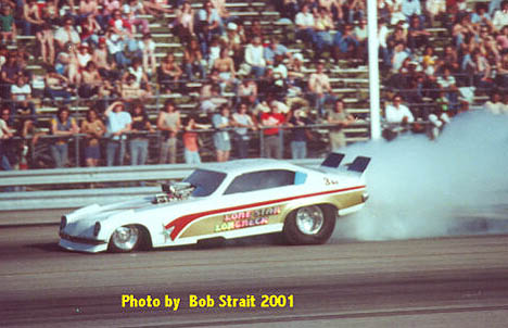 The Lonestar Longneck Chevy Vega funny car thrilled fans from Texas to Ohio. Photo by Bob Strait