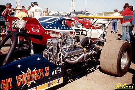 The Stones Top Fueler and Owen Hayward's Funny Car were two top British cars of the '70s. Photo by Anni Valder