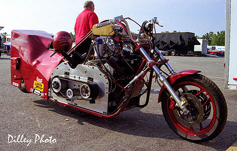 Yes, in fact they ARE made of brass! Blown V8 drag bike. Photo by Ron Dilley