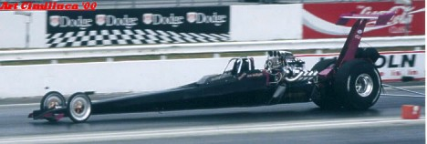 Joe Mulligan's 6.60 Top Comp dragster. Photo by Art Cimilluca