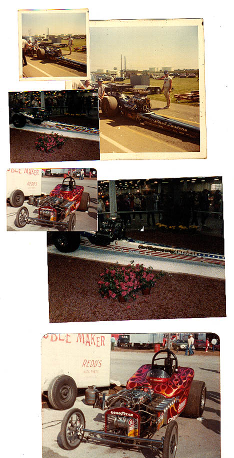 A collage of neat drag cars over the years. Photos by Dave Huber