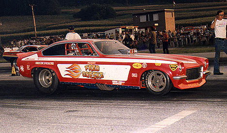Fearless Fred Goeske gets ready to launch at York, PA. Photo from the Drag Racing Memories Collection