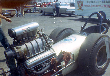 Goob Tuller's dragster in 1965. Photo thanks to Daryl Huffman
