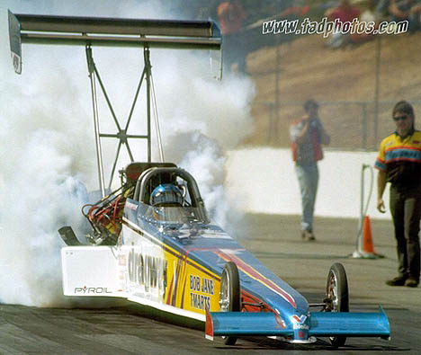 Rachelle Splatt -- the first woman over 300 mph in Top Fuel -- is still winning in Australia. Photo by Dave Murray