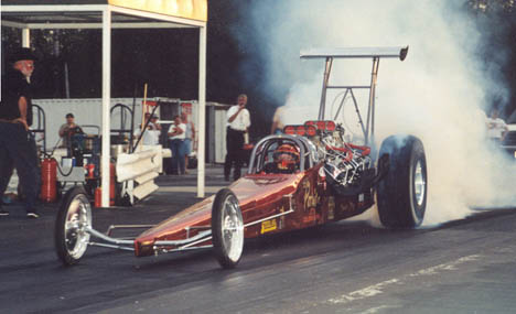 Are the Paris Bros. the quickest twin engine dragster in history? Photo by Mark Bruderle