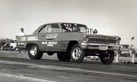 Dick Harrell's Chevy II at the Bakersfield March Meet, 1966. Photo by Paul Hutchins
