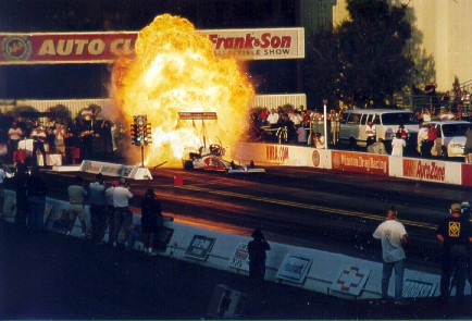 Doug Herbert's amazing explosion at the 1999 World Finals seems a distant memory under the 90 percent nitro rule. Photo by Keith Percival