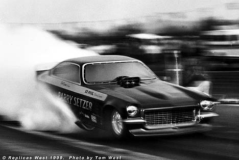 Pat Foster in the Barry Setzer Vega. Photo by Tom West