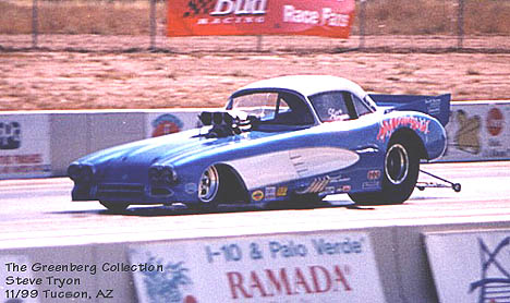 Steve Tryon's '59 Corvette Funny Car is a regular on the CIFCA circuit. Photo by Lyle Greenberg