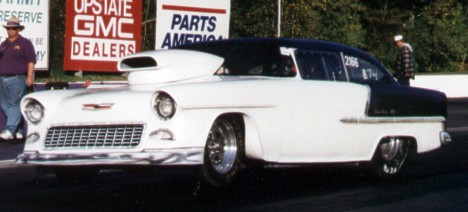 Joe Turco's 8-second '55 Chevy. Photo supplied by author