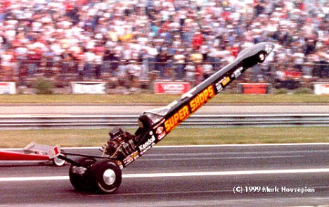 Big Daddy Don Garlits shoots for the moon. Photo by Mark Hovsepian