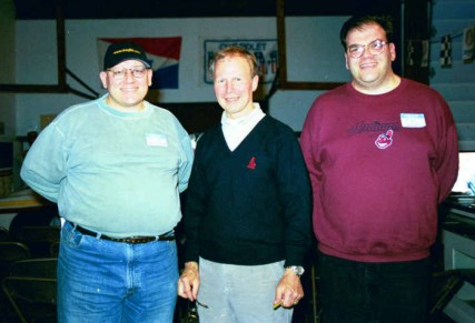 Bill Pratt, Bruce Larson, and Tim Pratt at the 2000 USA-1 Dragfest. Photo by Greg Gage
