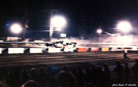 Burgin vs Segrini at Night 1980. Photo by James Morgan