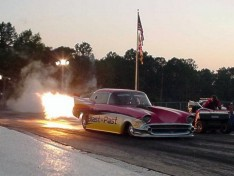 Ernie Bouge, Jr., fires it up! Tim Pratt photo