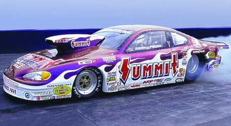 First look at the 2001 Summit Racing Pontiac Grand Am of Mark Pawuk. Photo by Alan Rebescher