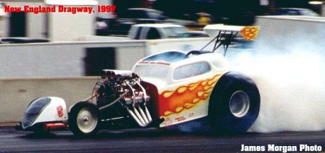Frank Schuster's Hot Rods from Hell machine in 1997. James Morgan photo