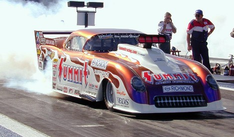 After winning the IHRA Pro Mod crown, the 1954 Summit Vette might be a trade-in for 2001. Photo by Bryan Epps